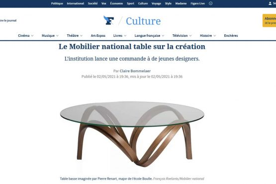 Le figaro 'mobilier national table sur la création' 2